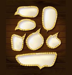 set elegant sparkling buttons vector image