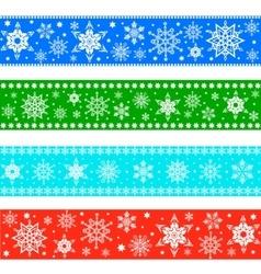 Set of Christmas borders vector image