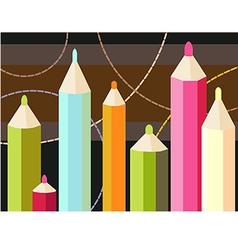Seven pencils vector