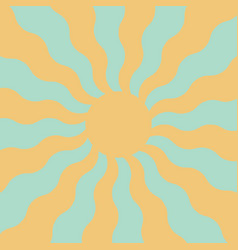 spring sun in pastel colors wavy rays sun vector image