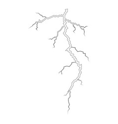 Thunderstorm crack icon black color flat style vector