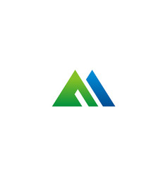 triangle business construction logo vector image