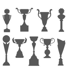 Trophy icons isolated on white background award vector