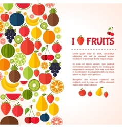 Vegetarian food background vector image