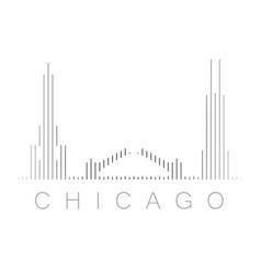 Vertical bars chicago landmark skyline vector