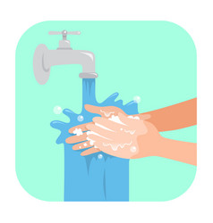 Washing hands with soap vector