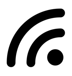 wifi signal icon outline style vector image