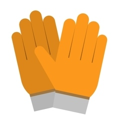 Yellow gloves hand protection vector
