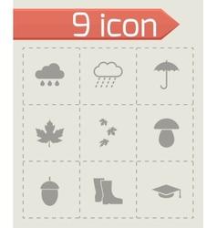 black academic icon set vector image vector image