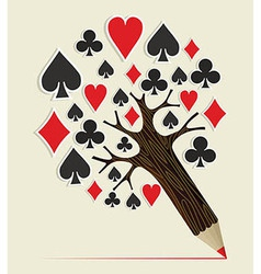 Casino Poker concept tree vector image vector image