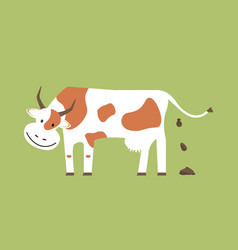 cow and organic manure vector image