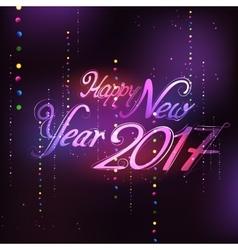Happy New Year 2017 celebration Seasons greetings vector image