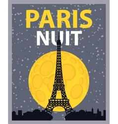 paris night vector image