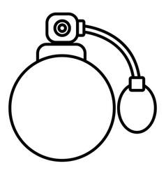 retro perfume bottle icon outline style vector image