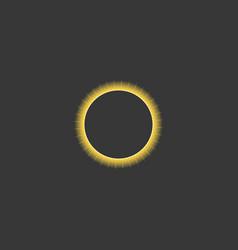 solar eclipse vector image vector image