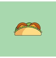 Tacos and burrito line icon vector image