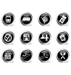 Train station symbols vector image vector image