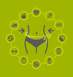 weight loss with health and fitness vector image