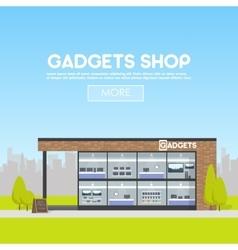 Facade gadgets shop in the urban space the sale vector image