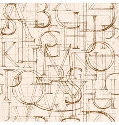 Font Antiqua ABC vector image