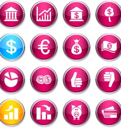 Money round icons vector image vector image