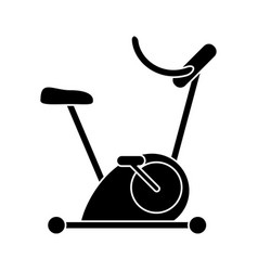 silhouette bicycle static exercise training vector image