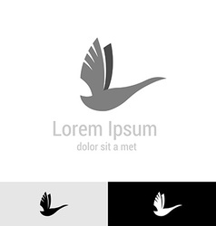 Swan silhouette logo template vector image vector image
