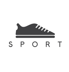 abstract icon design template of sport shoes vector image