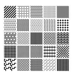 Monochrome geometric seamless patterns vector image