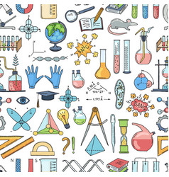 sketched science or chemistry elements vector image