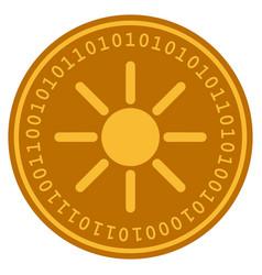 sun digital coin vector image