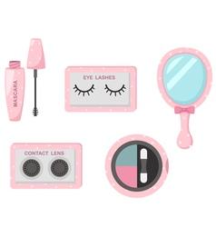 cosmetics eye set vector image