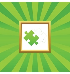 Puzzle place picture icon vector image