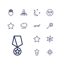 13 star icons vector
