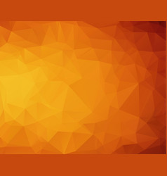 abstract dark orange polygonal pattern which vector image