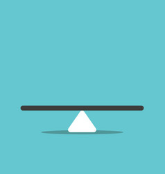 abstract empty seesaw scale vector image