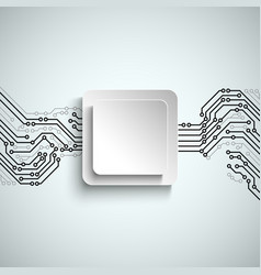 Abstract technical printed circuit board vector