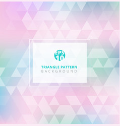 Abstract triangle pattern on pastels color vector