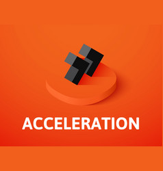 Acceleration isometric icon isolated on color vector
