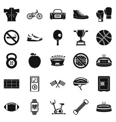 affray icons set simple style vector image