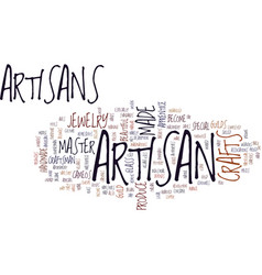 artisan crafts are special text background word vector image