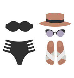 beachwear bikini cloth fashion looks beach vector image