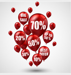 big sale and best offer balloons vector image