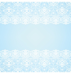 Blue background with lace border vector