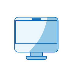 Blue color shading silhouette modern flat computer vector