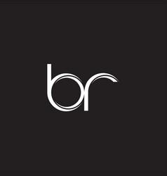br initial letter split lowercase logo modern vector image