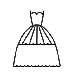 bridal evening dress line icon sig vector image