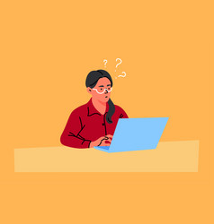 business freelance problem thinking idea work vector image