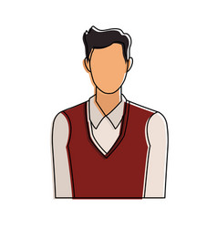 Businessman faceless profile vector