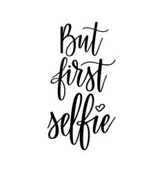But furst selfie funny social media vector